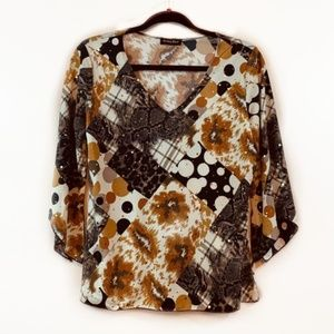 Brittany Black V-Neck Sequin Blouse